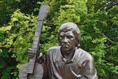 Monument of Vladimir Vysotsky (fragment). Kaliningrad, Russia