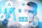 Genetické inženýrství výzkumník koncept