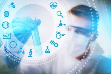 Biotechnology scientist concept