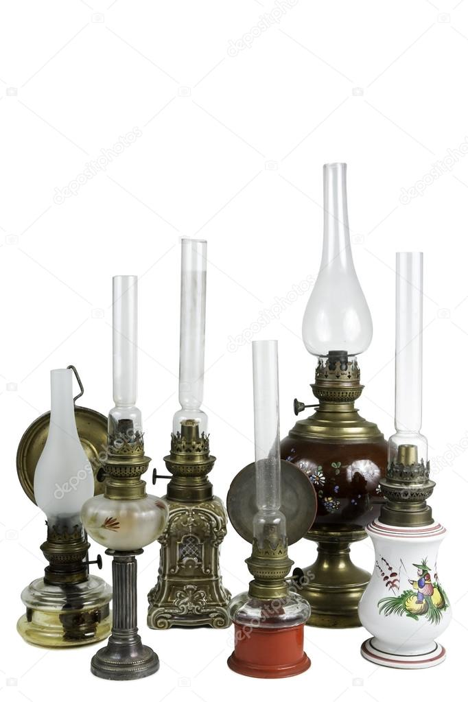 Old Oil Lamps U2014 Stock Photo