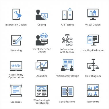 Web Usability & Accessibility Icons Set 2 - Bleu Series