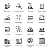Fotografia Web Usability  Accessibility Icons Set 1 - serie Noir