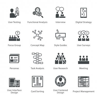 Web Usability & Accessibility Icons Set 1 - Noir Series