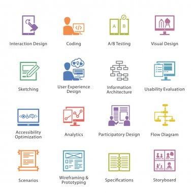 Web Usability & Accessibility Icons Set 2 - Coloré Series