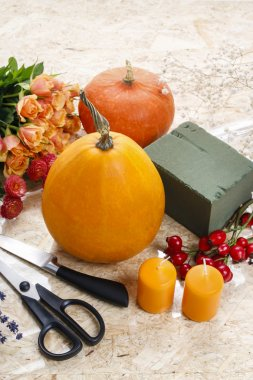 How to make a Thanksgiving centerpiece - step by step
