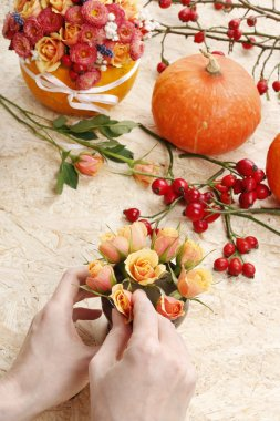 How to make bouquet of roses and chrysanthemums  tutorial