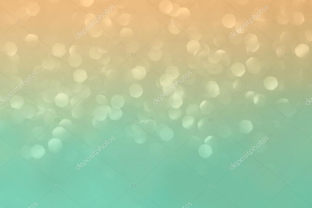 Broskev a tyrkysová třpytivé pozadí — Stock Fotografie ...