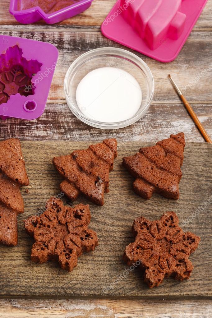 Decorar Galletas De Jengibre Chocolate Navidad Fotos De