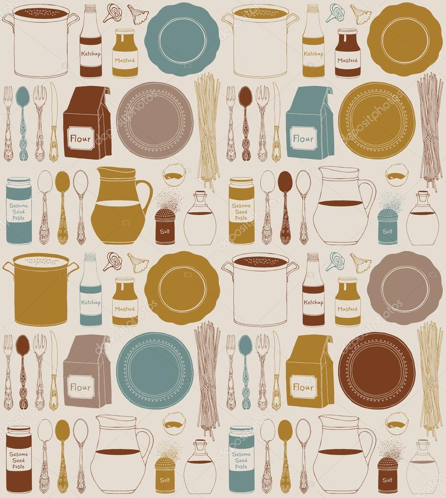 alimentos y utensilios de cocina utensilios de cocina hogar cocina fondo u ilustracin de stock