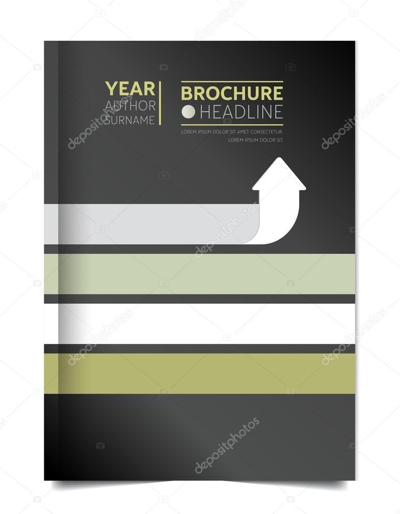 Broschüre Abdeckung Deckblatt Für Jahresbericht Flyer Abdeckung