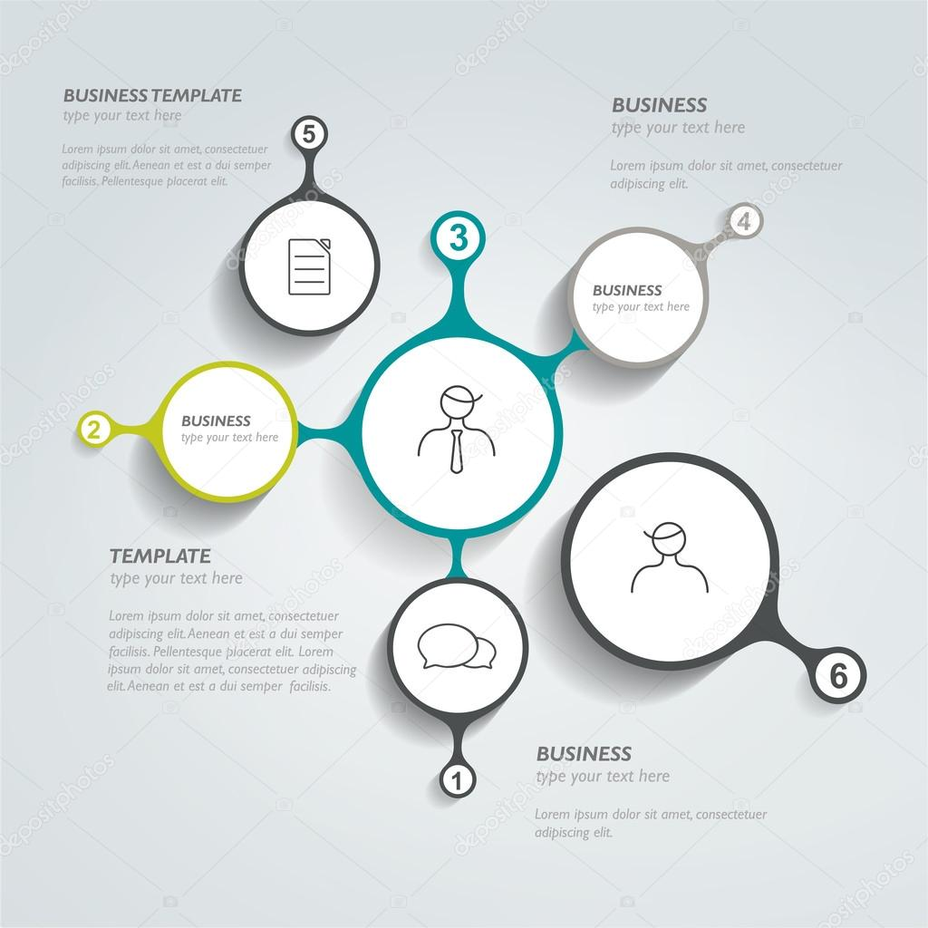 Circle network diagram. Infographic chart. Vector banner. — Stock ...
