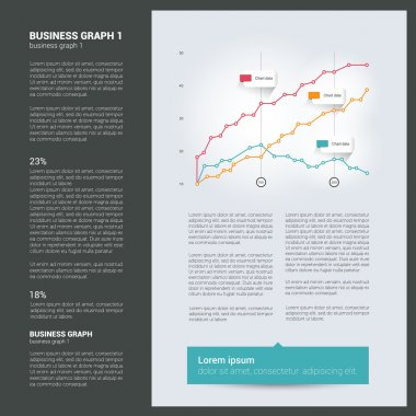 Brochure, flyer, newsletter, annual report layout template.