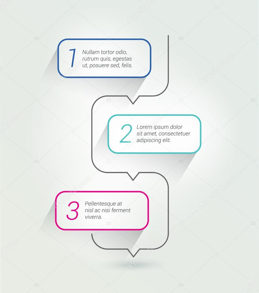Outline Speech Bubble Template Infographics Elements Numbered Scheme Vector By Kubko