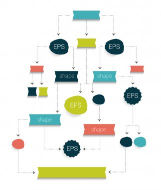 Flow chart. Simply editable withou text.