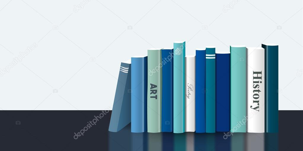 Etagere De Livre 3d Realiste Vector Illustration Dessin