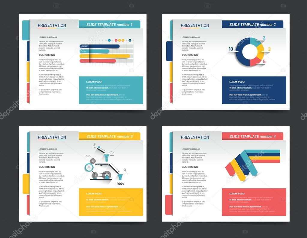 Presentation Business Templates Infographics For Leaflet Poster - Brochure website templates