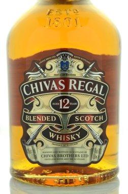 Chivas Regal whisky isolated on white background.