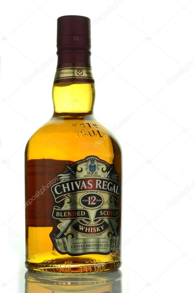 Chivas regal whisky isolated on white background stock editorial kwidzyn poland april 11 2015 chivas regal whisky isolated on white background chivas regal is blended scotch whisky produced by chivas brothers voltagebd Images