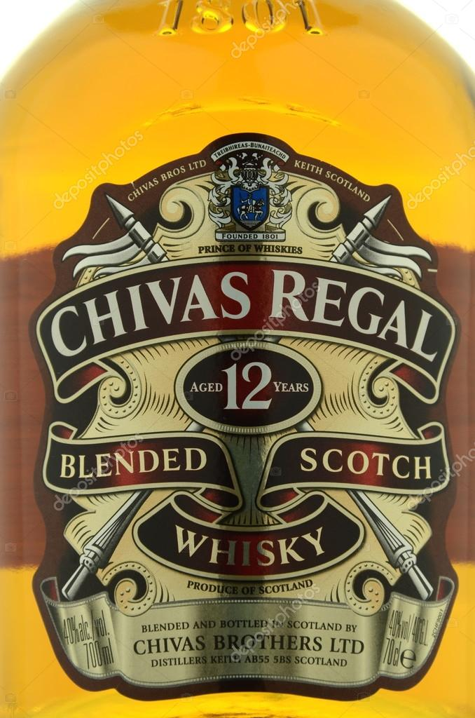 Chivas regal whisky isolated on white background stock editorial kwidzyn poland april 9 2015 chivas regal whisky isolated on white background chivas regal is blended scotch whisky produced by chivas brothers voltagebd