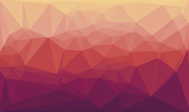 Minimal multicolored polygonal background stock vector
