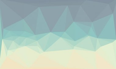 Creative prismatic background with light blue polygonal pattern stock vector