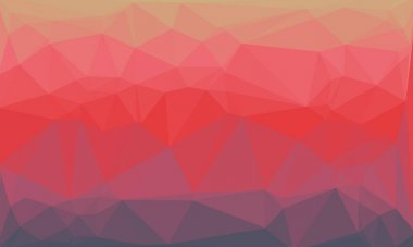 Geometric background with pink and red mosaic design stock vector