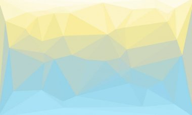 Abstract geometric background in light yellow and blue colors stock vector