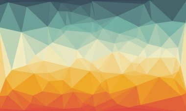 Abstract and colorful polygonal background stock vector