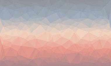 Creative prismatic background in light blue and red colors stock vector