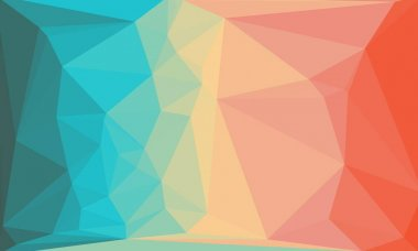Abstract polygonal background in blue, pink and red colors stock vector