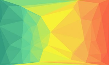Minimal multicolored polygonal and creative background stock vector