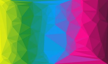 Minimal multicolored polygonal background stock vector