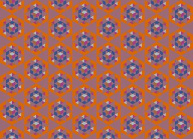 Modern colorful backdrop with hexagonal pattern stock vector
