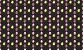 Farbiger Hintergrund mit verschiedenem Zubehör