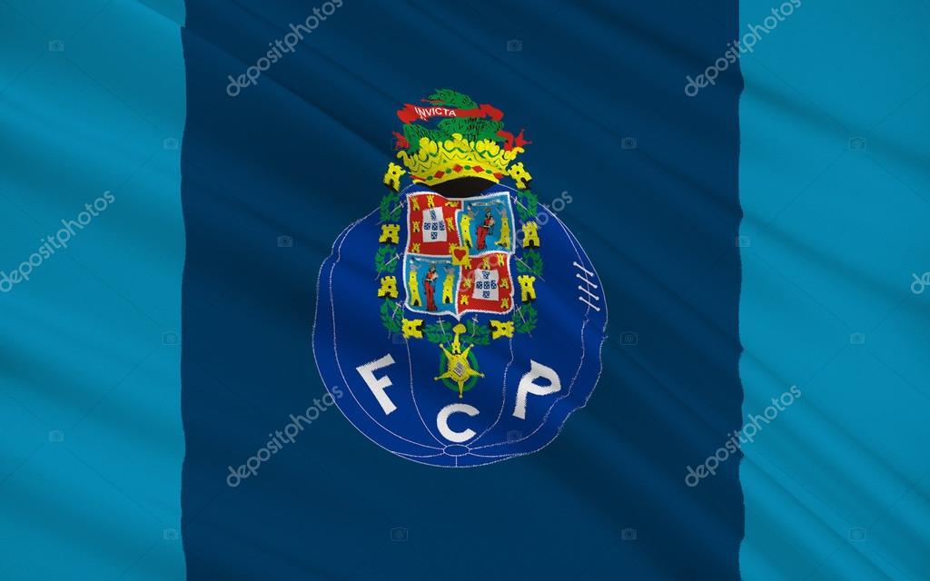 c3e9db5d6 Flaga piłki nożnej klub Porto, Portugalia - Zdjęcie stockowe ...