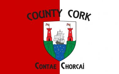 Flag of County Cork is the largest and southernmost county in Ir