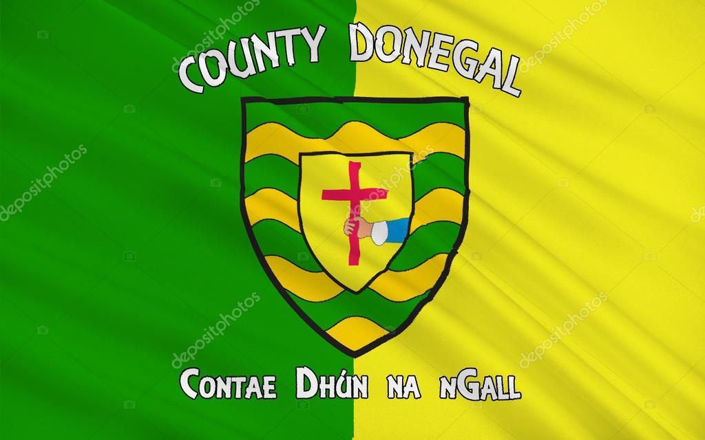 ドニゴール州の旗がアイルランド...