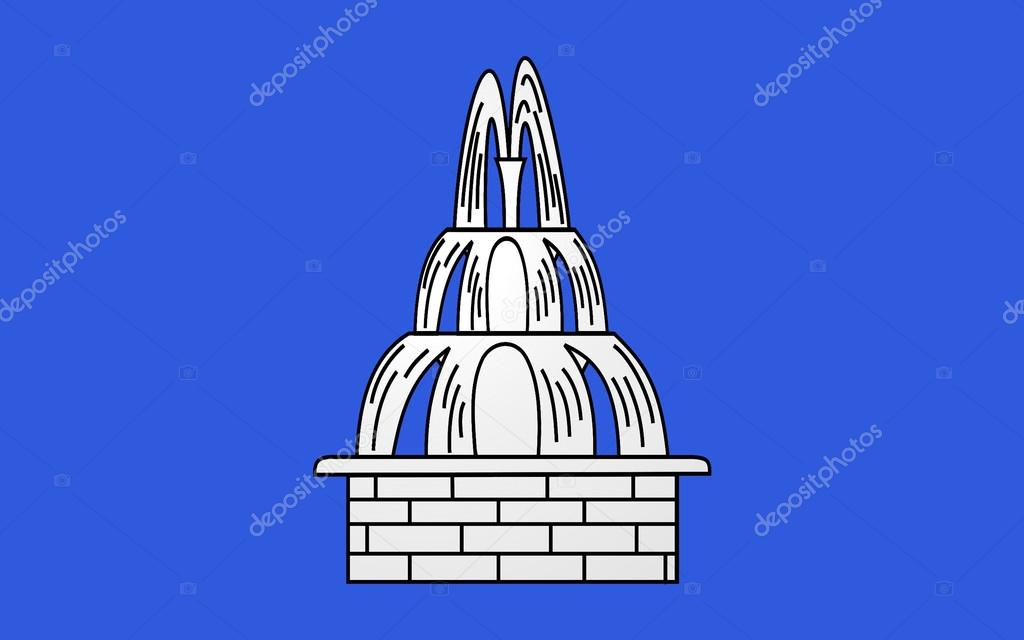 flag of fontenay le comte france stock photo zloyel 108880544. Black Bedroom Furniture Sets. Home Design Ideas