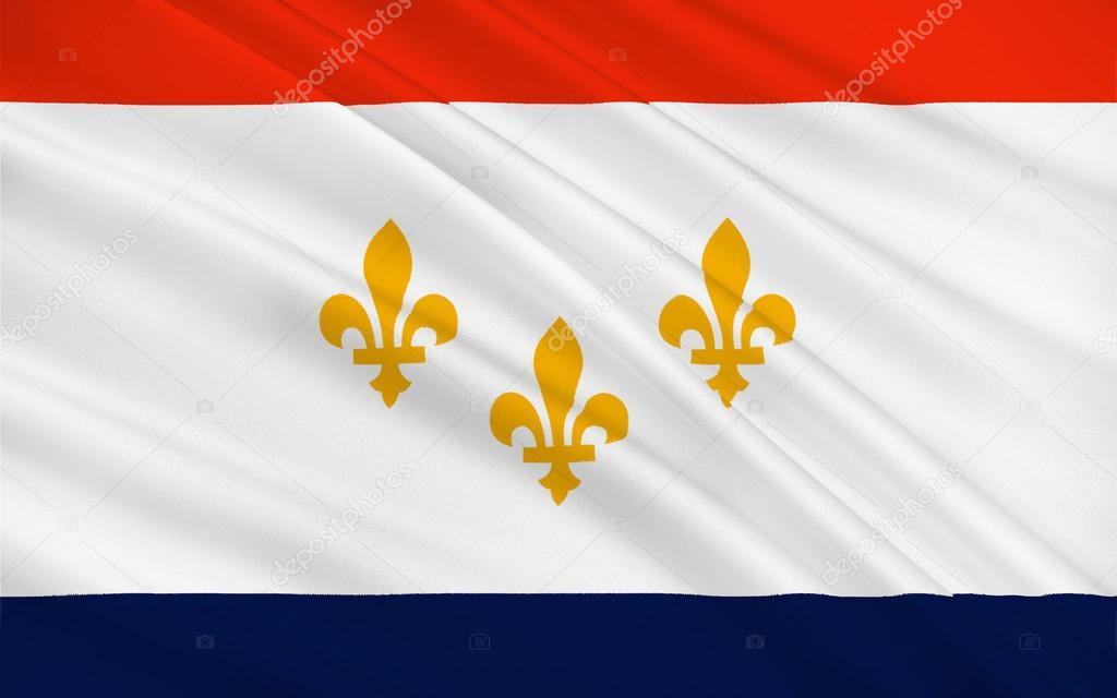 Bandiera di new orleans in louisiana stati uniti d for Nuovi piani domestici di new orleans