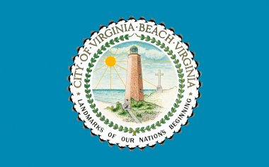 Flag of Virginia Beach in Virginia, USA