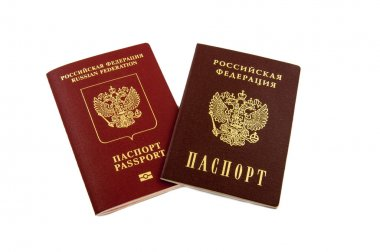 Two passports - internal Russian passports and the passport of t