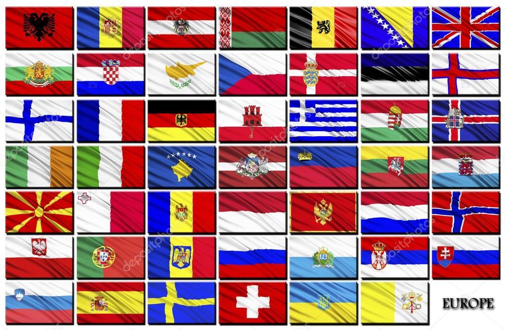 флаги всех европейских государств в картинках каждая них