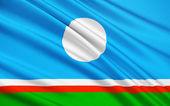 Fotografie Flag of Republic of Sakha (Yakutia), Russian Federation