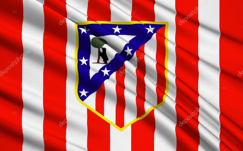 Прапор футбольний клуб Атлетико Мадрид, Іспанія