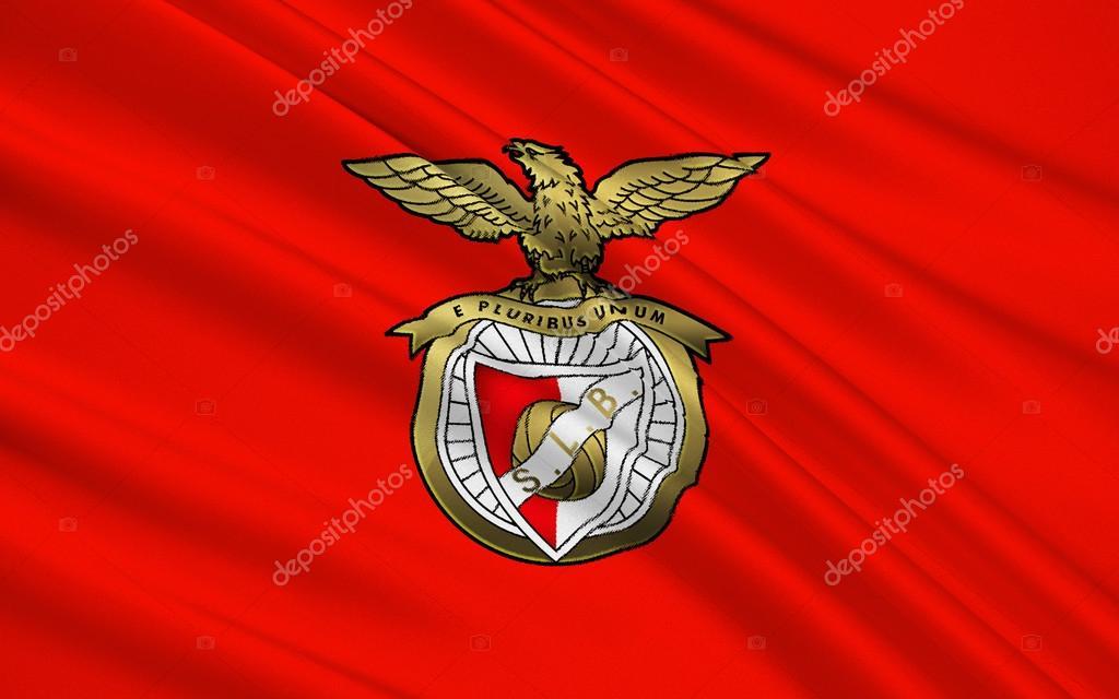 65c99e403 Flaga klub piłkarski Fc Benfiki Lizbona, Portugalia — Zdjęcie od zloyel