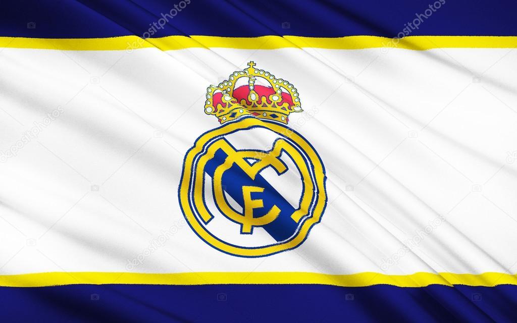 Rewelacyjny Flaga klubu piłkarskiego Real Madryt, Hiszpania - Zdjęcie stockowe ZG23