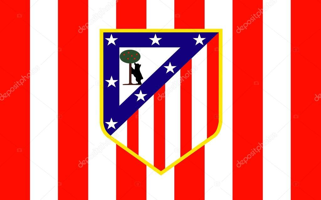 Flag Fußballclub Atletico Madrid Spanien Redaktionelles Stockfoto