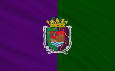Flag of Malaga - a city in southern Spain