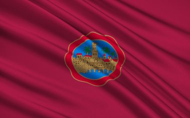 Flag of Cordova city in the south of Spain