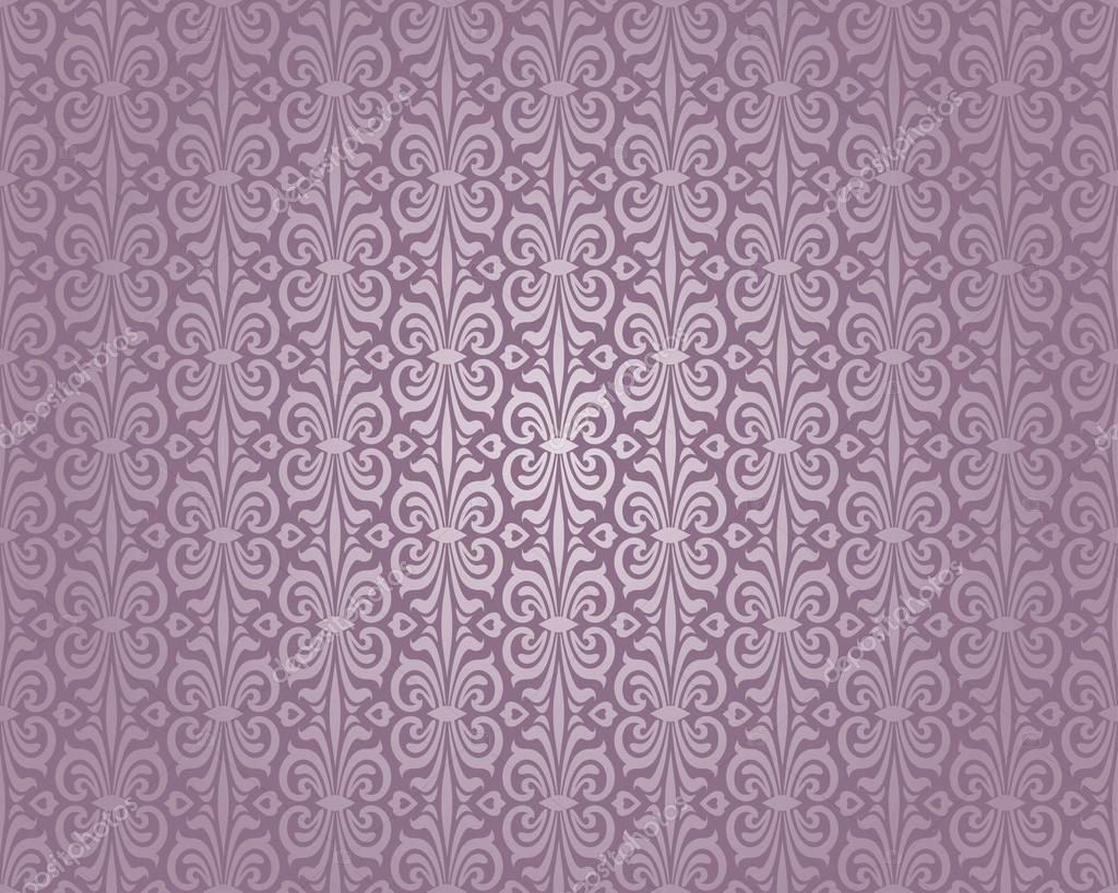 Violett Und Silber Luxus Vintage Tapete Stockvektor C Erinvilar